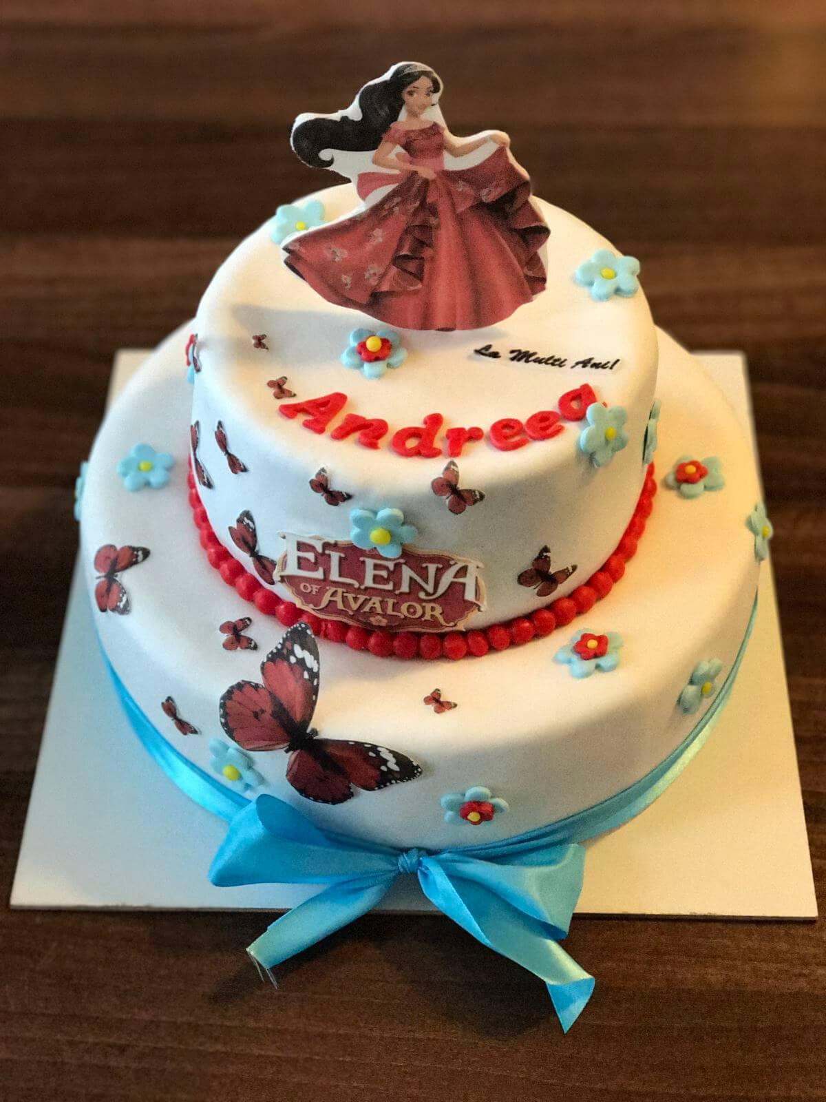 tort fetite, tort Elena din Avalor, tort copii, Bdelicious Brasov